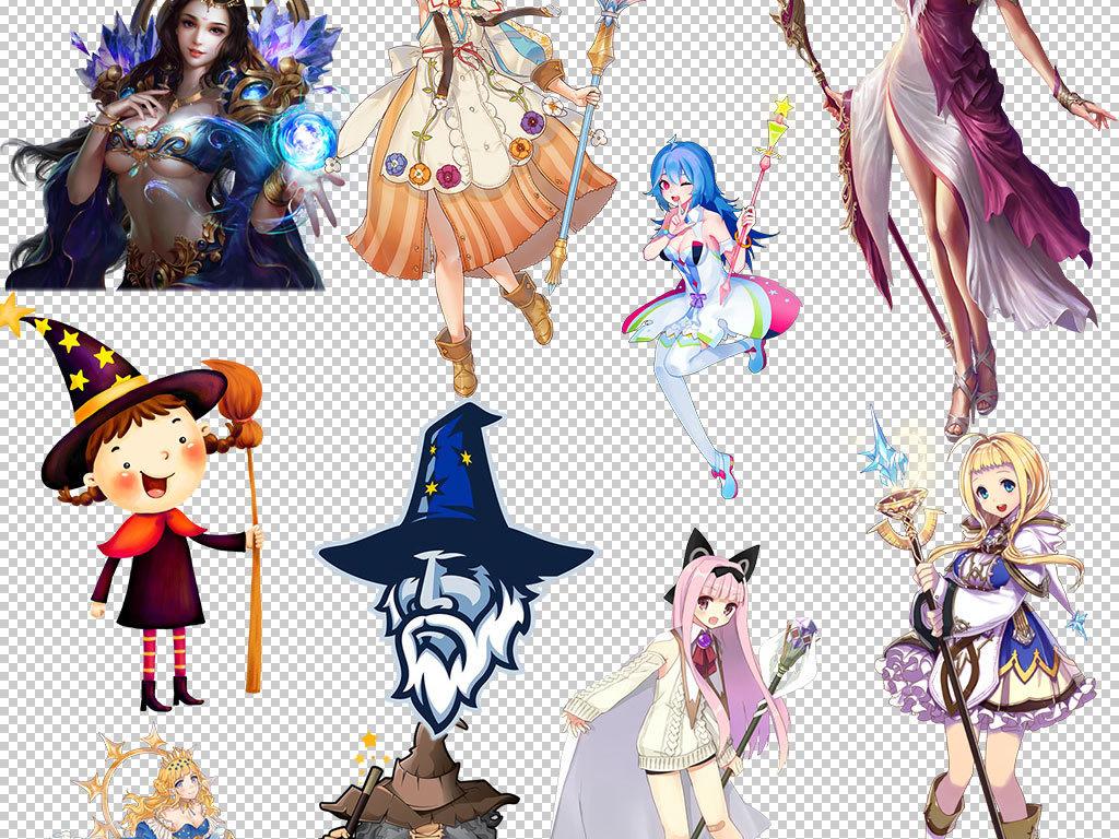 卡通魔法师魔法棒魔法帽图片