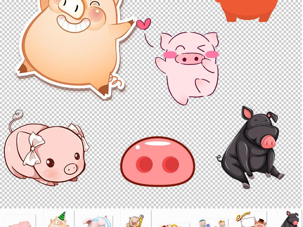 卡通小猪猪头动物图片海报素材