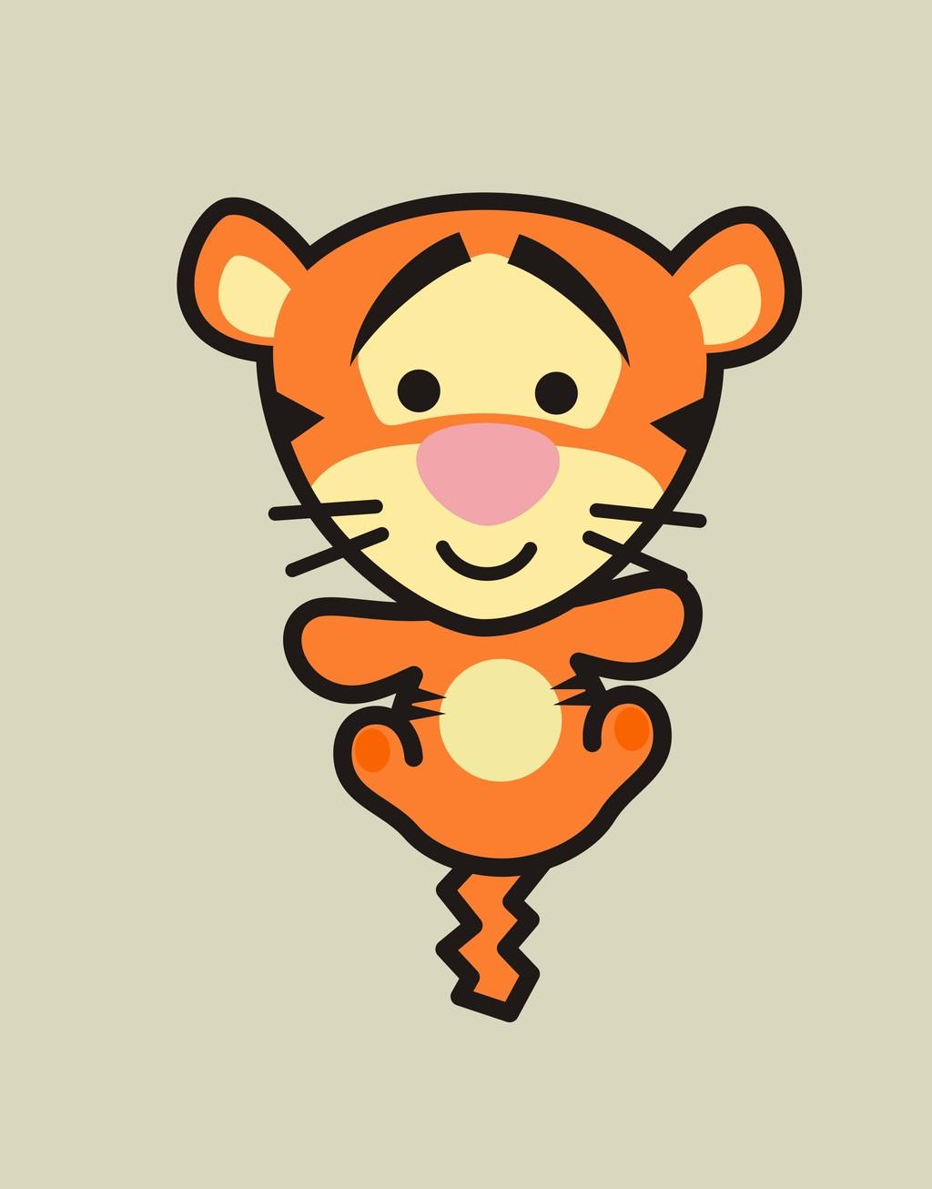 卡通动物老虎