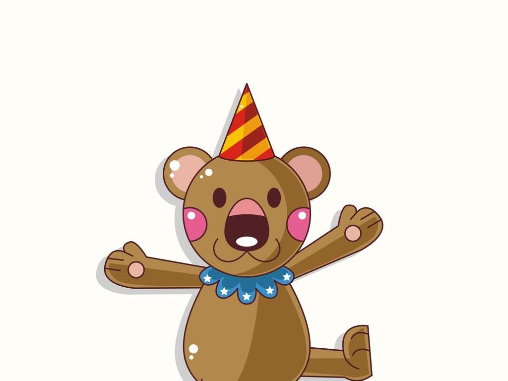卡通动物小熊马戏团图片