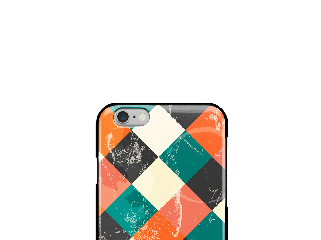 抽象几何涂鸦手机壳图案设计