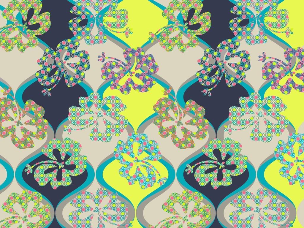 定位印花面料图案设计壁纸墙纸抽象几何图案花卉花纹欧式花卉图片