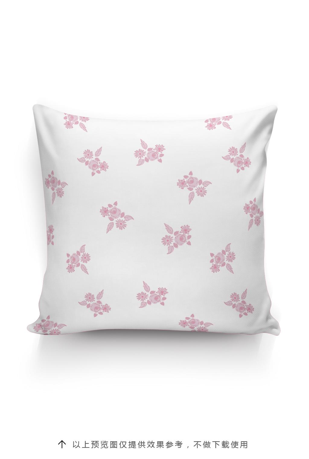 植物花卉抱枕图案北欧风格
