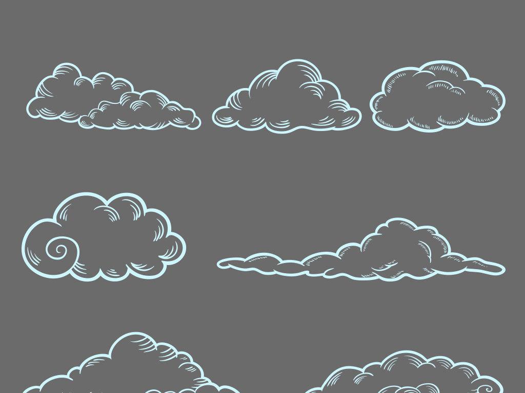 白云素材                                  手绘云朵