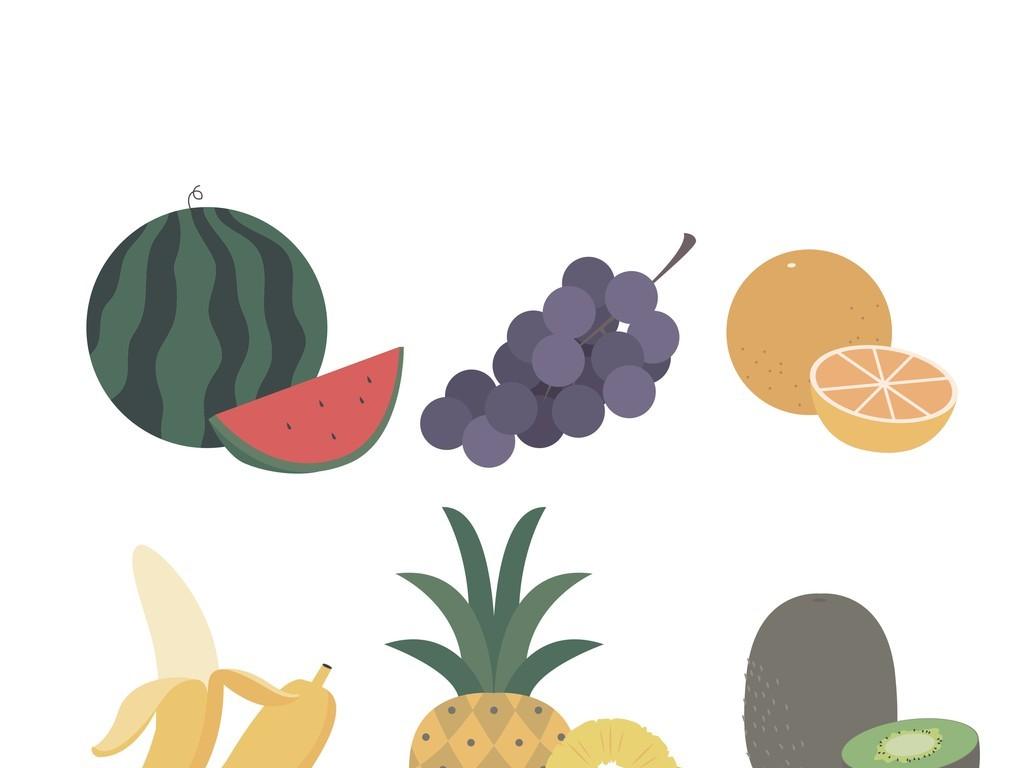 水果蔬菜卡通图案
