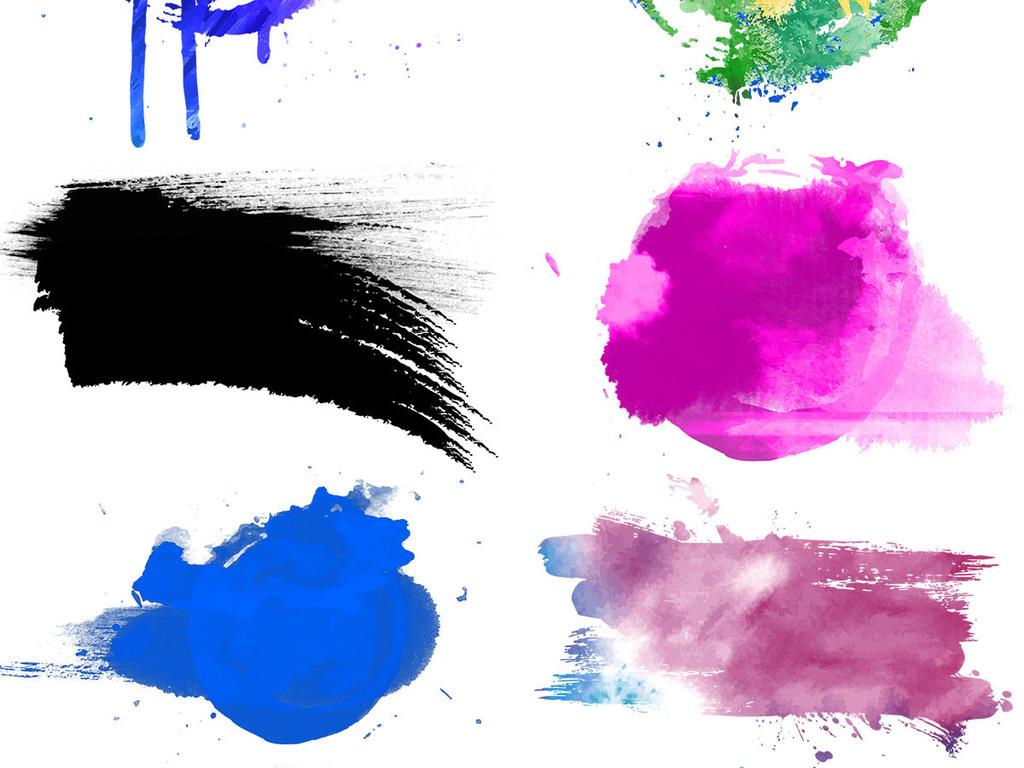 水彩泼墨                                  手绘水彩泼墨水彩背景