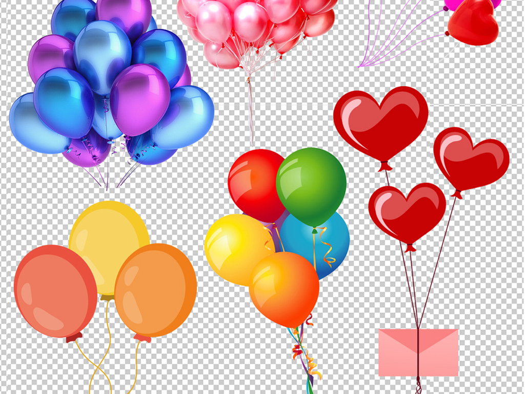 气球元素png素材(图片编号:16403640)_其他_我图网