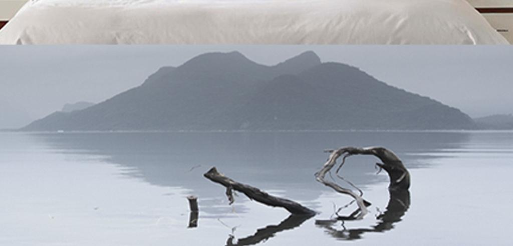 新中式水墨山水唯美意境风景时尚简约床头画