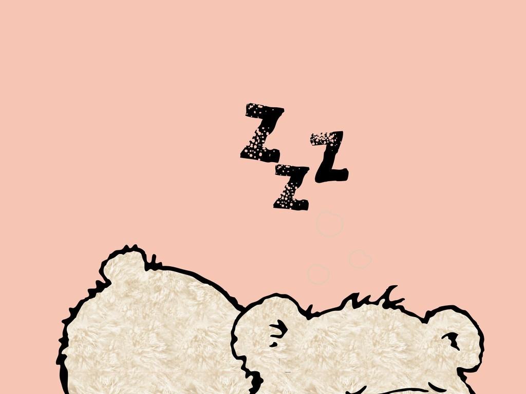 卡通动物小熊
