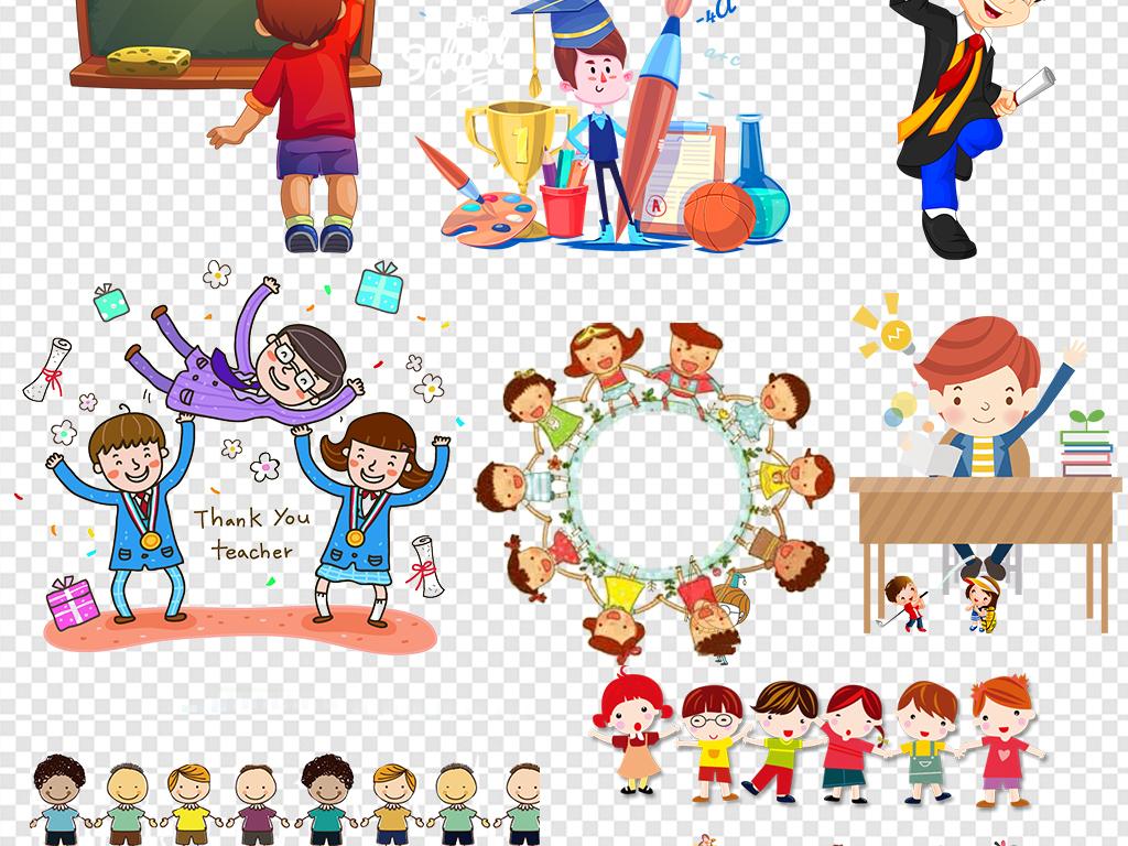 报名欢迎新同学简笔画小孩卡通手拉手