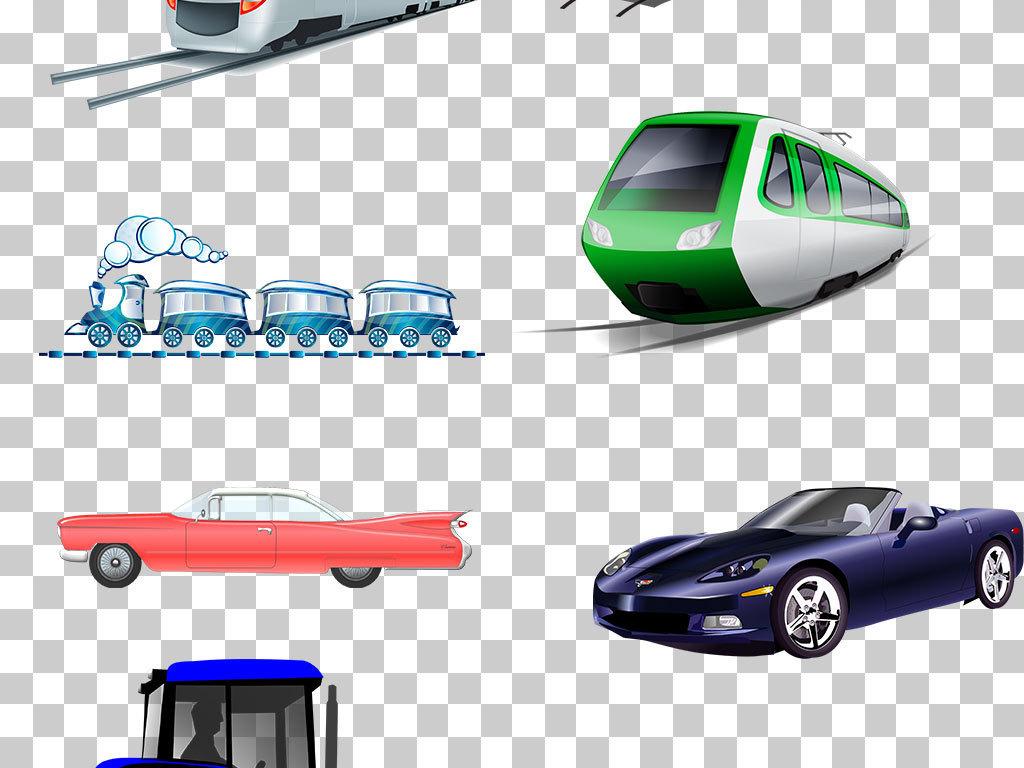 卡通手绘汽车火车免抠png素材图片下载png素材-其他