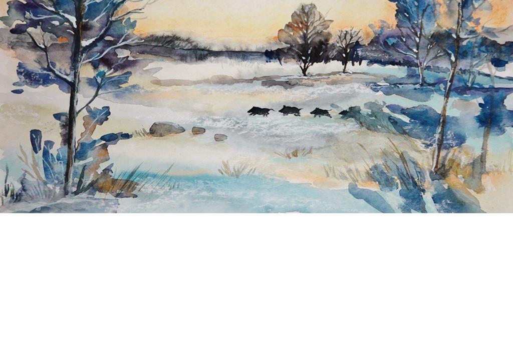 背景墙|装饰画 电视背景墙 电视背景墙 > 欧式手绘雪景大树丹麦  版权