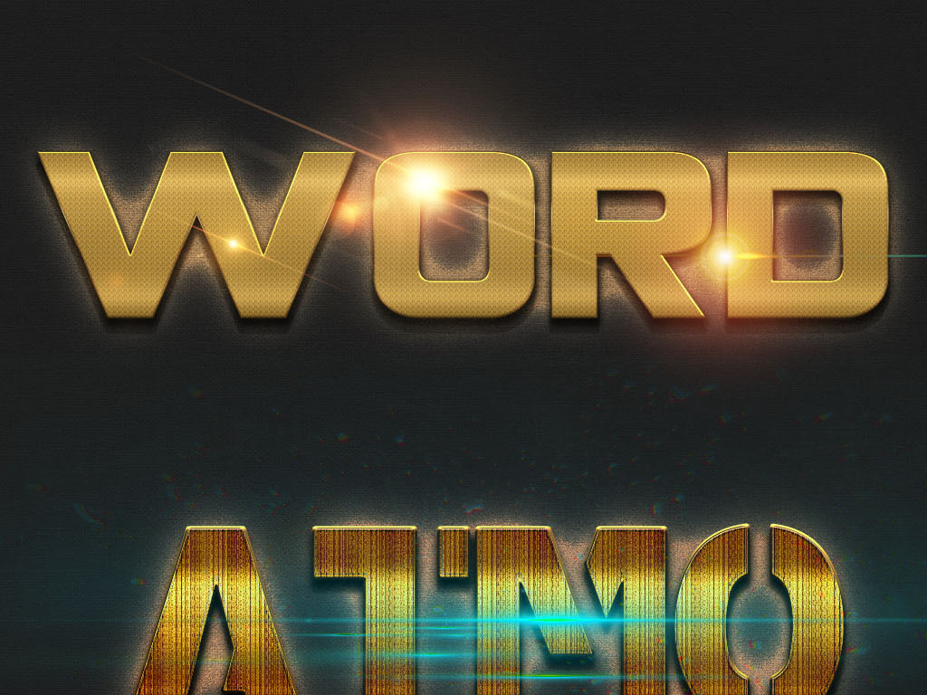 炫酷ps金属质感字体样式图片下载psd素材 英文字体