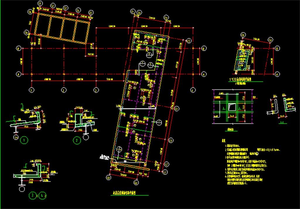 钢结构别墅CAD施工图