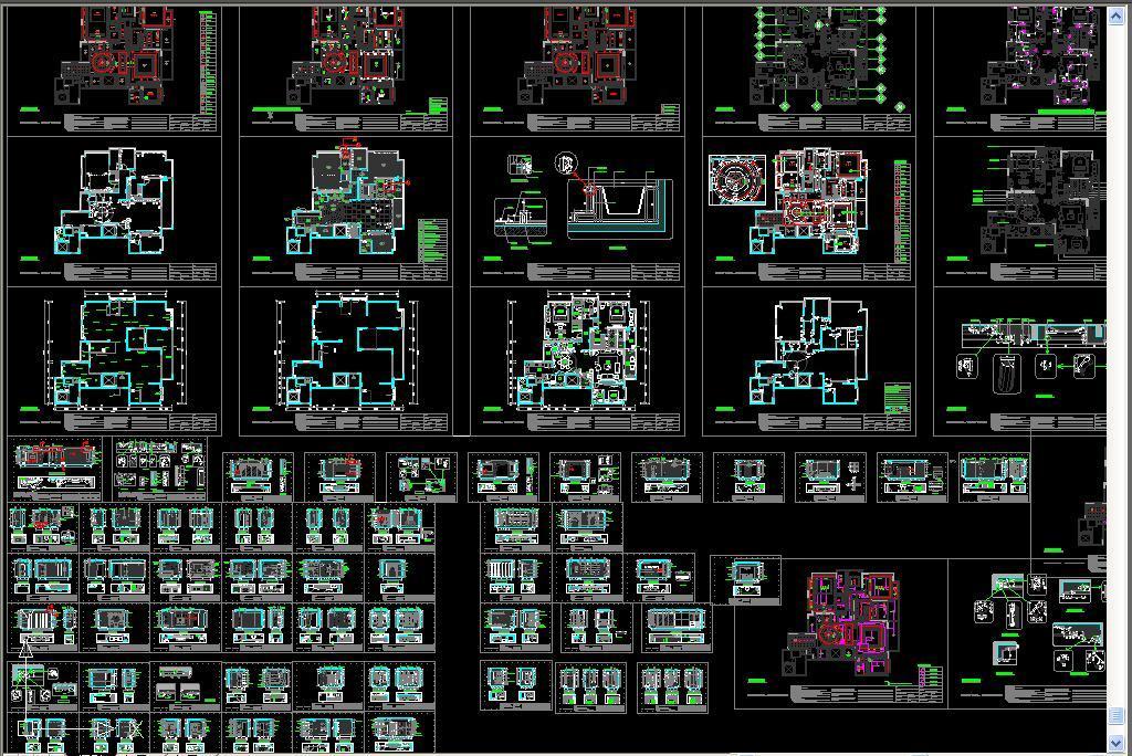 三室一厅家装cad立面图平面设计图下载(图片7.44mb)