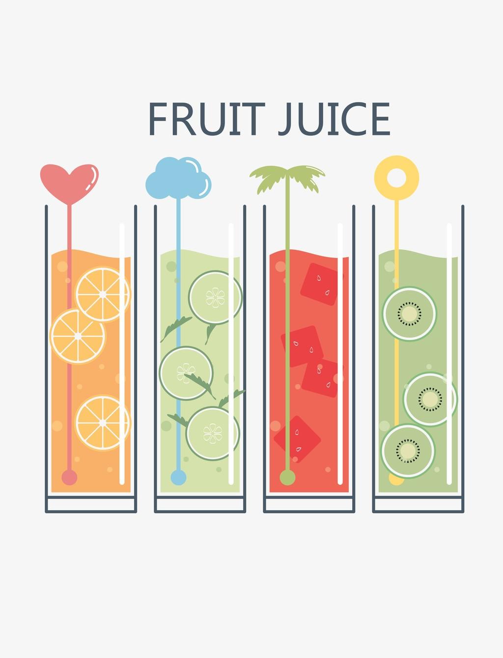 玻璃瓶卡通图案水果饮料