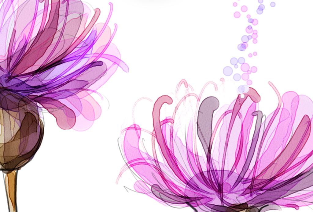 北欧简约时尚花卉唯美装饰画无框画