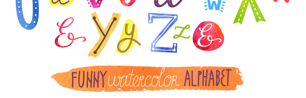 可爱字体手绘艺术字儿童节美术字创意手写字