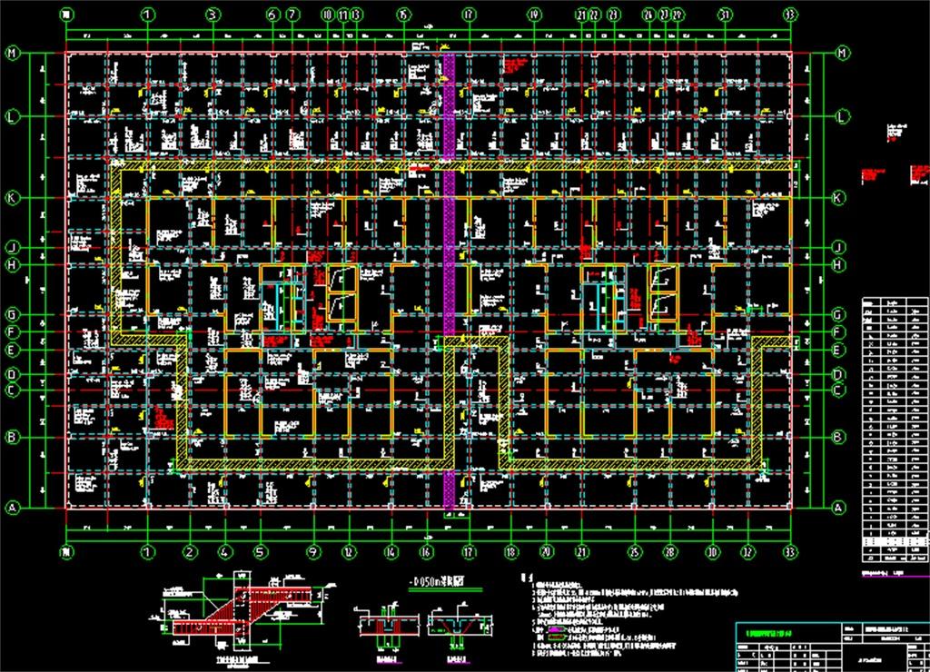 某小区高层住宅楼结构cad施工图