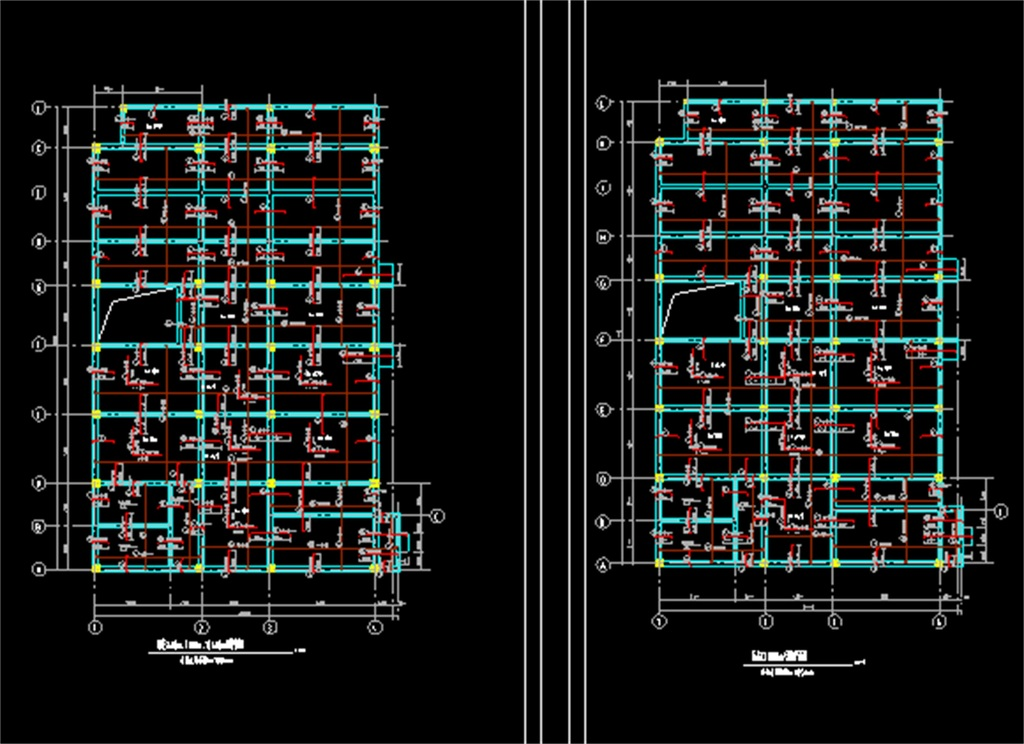 某教学楼结构cad设计图
