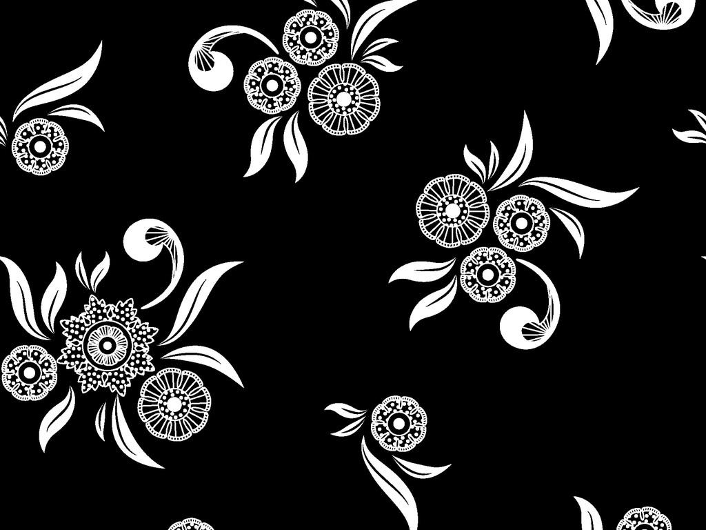 可编辑欧式花卉图案印花图片