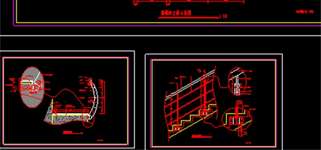 旋转楼梯CAD施工图平面设计图 dwg施工图下载 0.06MB 建筑图纸大全