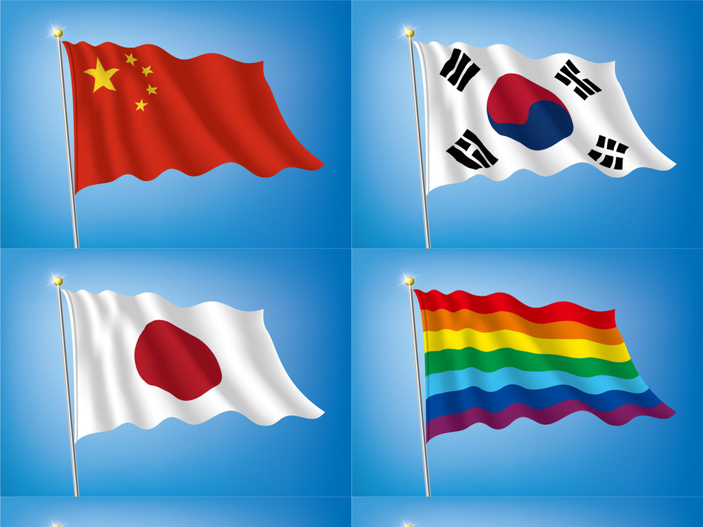 鲜红的旗帜心中飘简谱