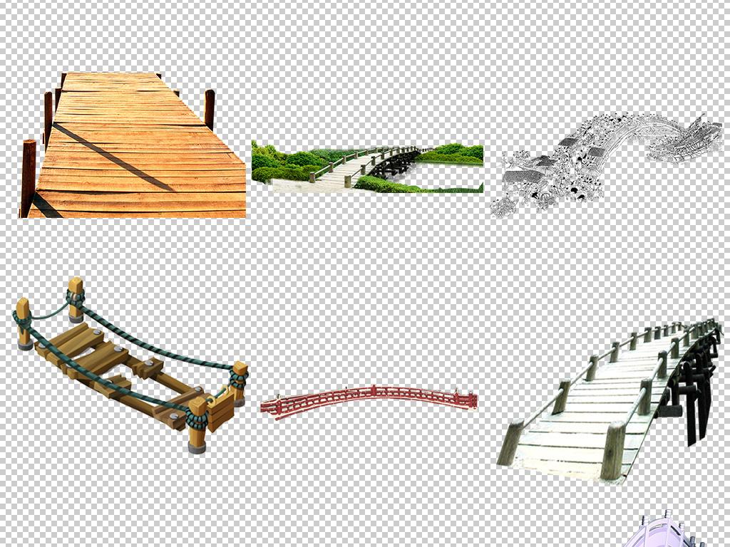实物图片卡通桥木桥石桥乡间小桥图片背景