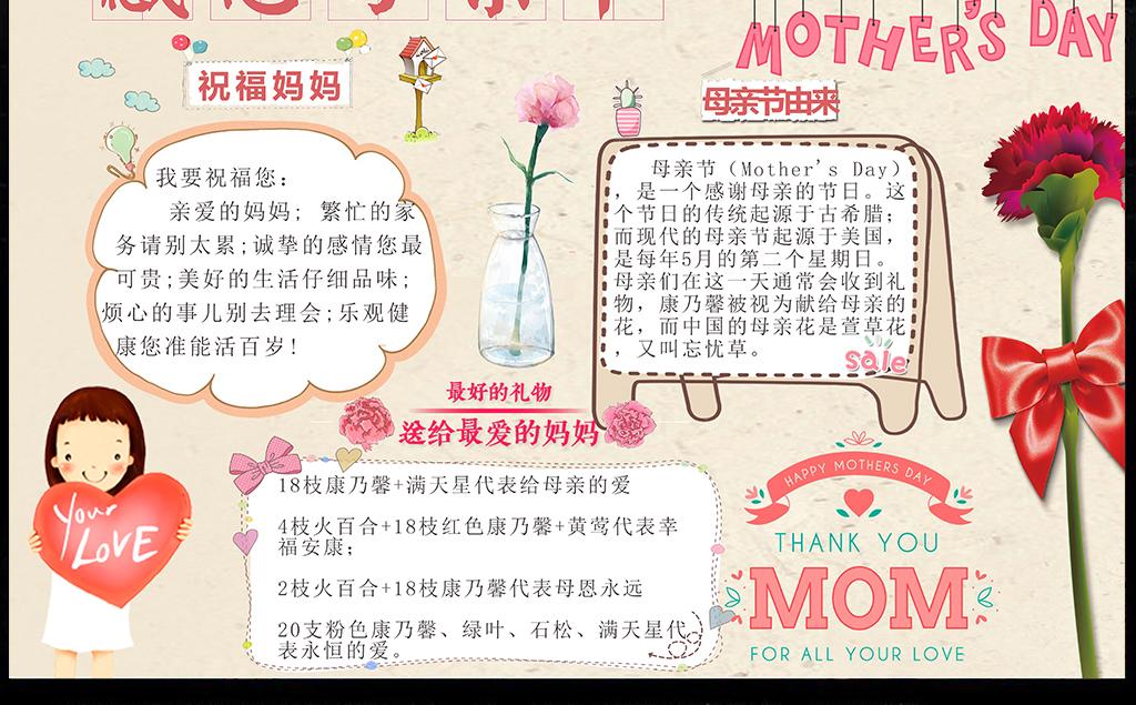 手抄报|小报 节日手抄报 母亲节|妇女节手抄报 > 母亲节小报亲子感恩