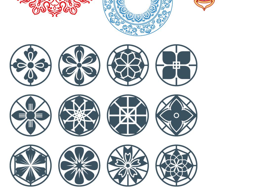 设计元素 节日素材 其他 > 中国风古风装饰画图腾元素合集