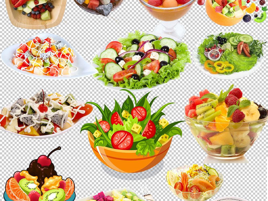 沙拉酱蔬菜沙拉艺术字字体设计手绘