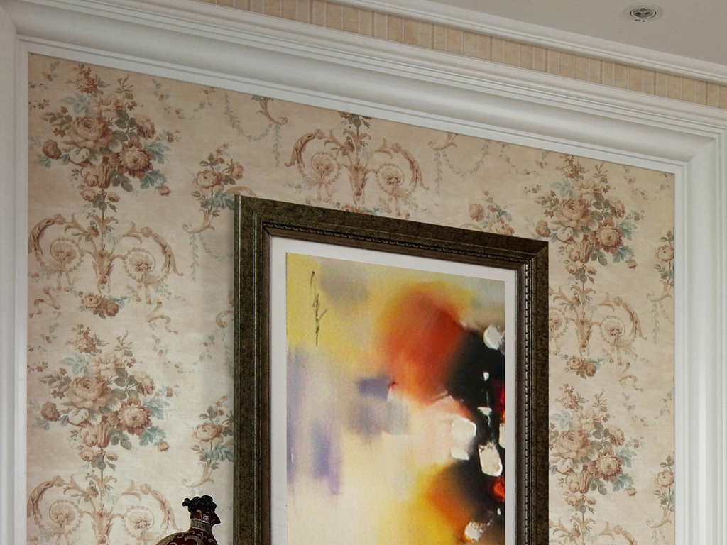 新中式玄关背景墙装饰画图片