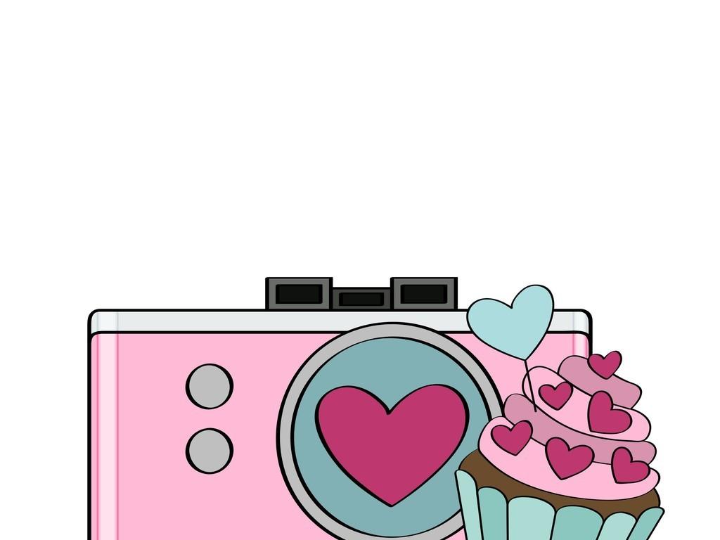 卡通相机甜品蛋糕