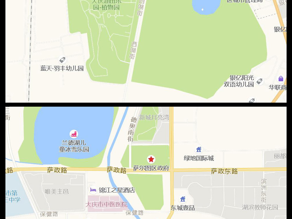 大庆市区地图_大庆市区地图查询_大庆市区地图... - 查字典地理网