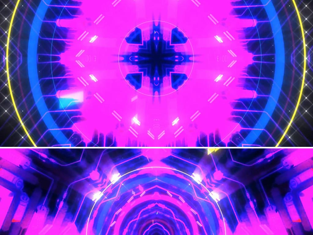 粉色大气动感舞台舞蹈背景演出led视频素材
