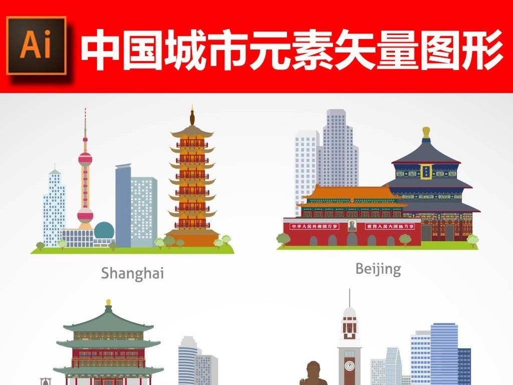 """【本作品下载内容为:""""中国城市元素矢量图形""""模板,其他内容仅为参考,如需印刷成实物请先认真校稿,避免造成不必要的经济损失。】 【声明】未经权利人许可,任何人不得随意使用本网站的原创作品(含预览图),否则将按照我国著作权法的相关规定被要求承担最高达50万元人民币的赔偿责任。"""