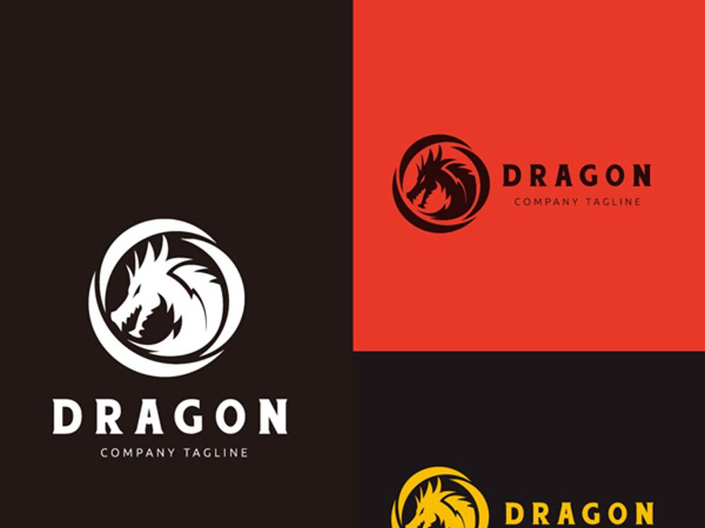 圆形龙头logo设计素材_图片下载(1.17mb)_互联网图标图片