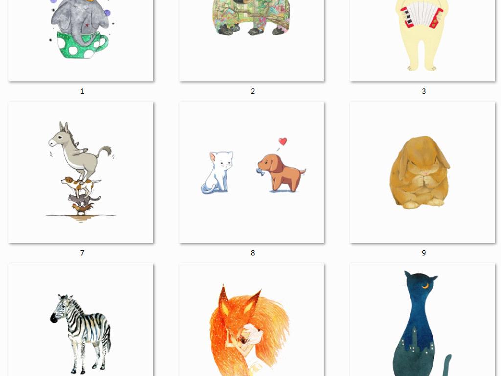 五羊手绘图