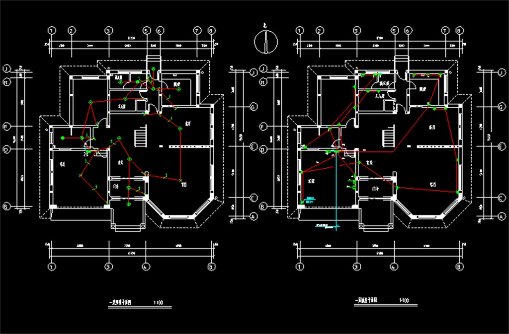别墅电气CAD全套施工图