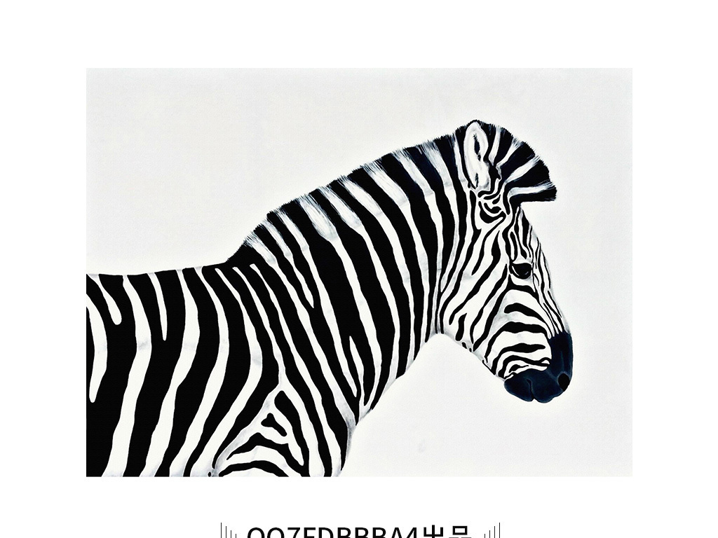 现代简约斑马动物艺术装饰画