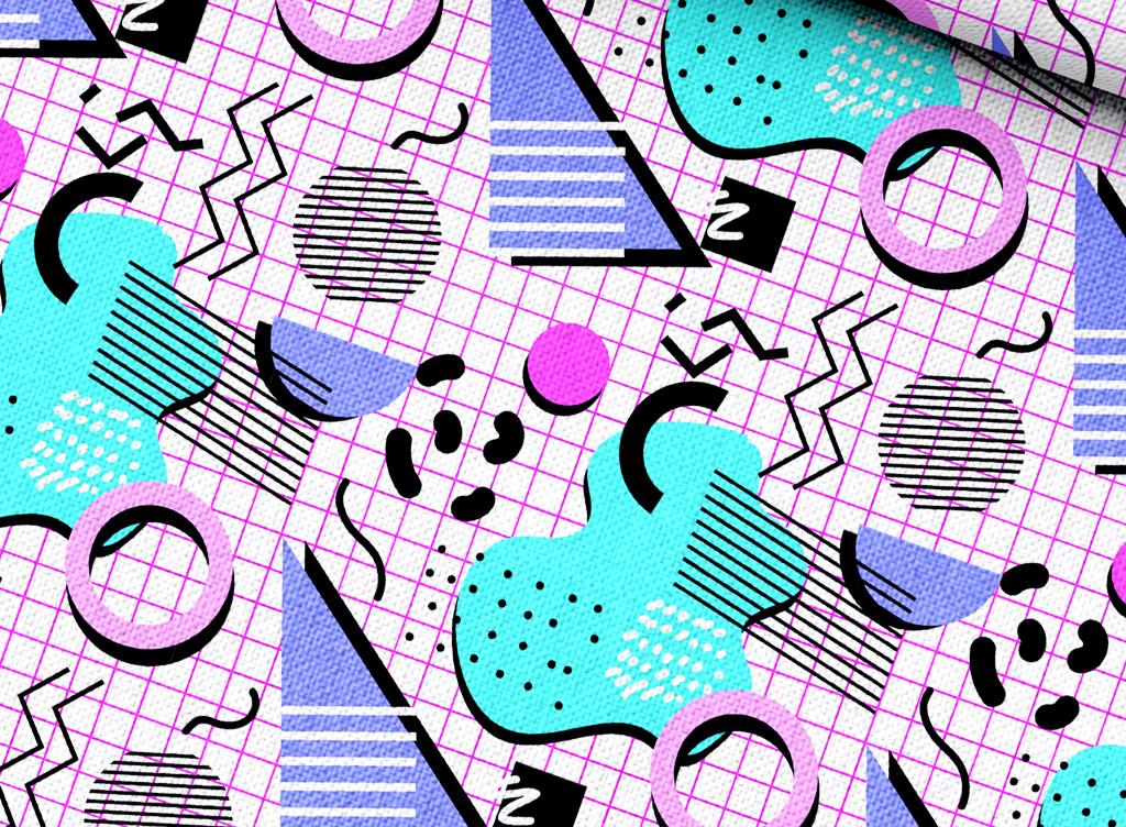 抽象几何背景图案设计
