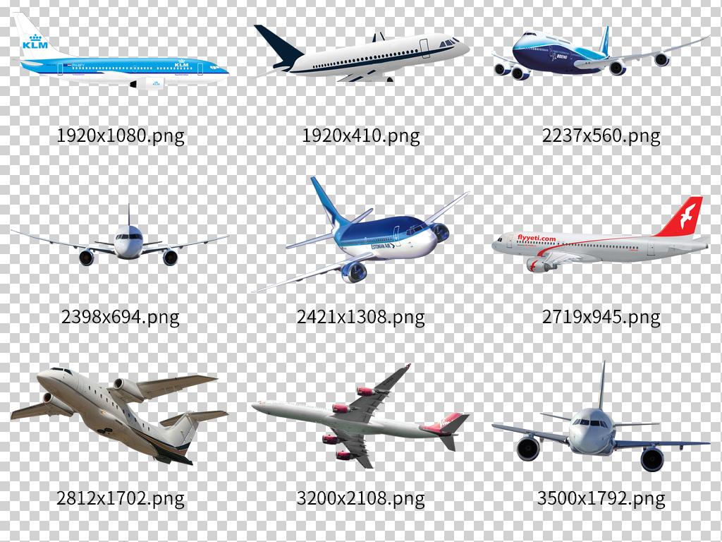 高清透明航空飞机大全图片下载png素材-其他-我图网