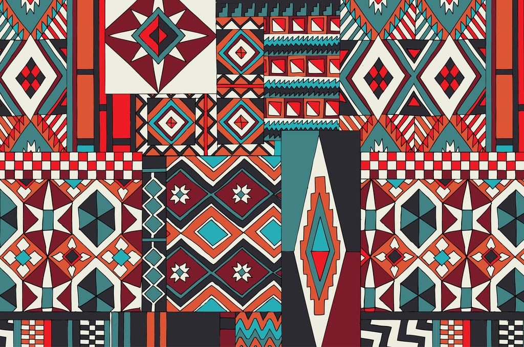 欧式花纹民族图案设计(图片编号:16433583)_几何抽象图片