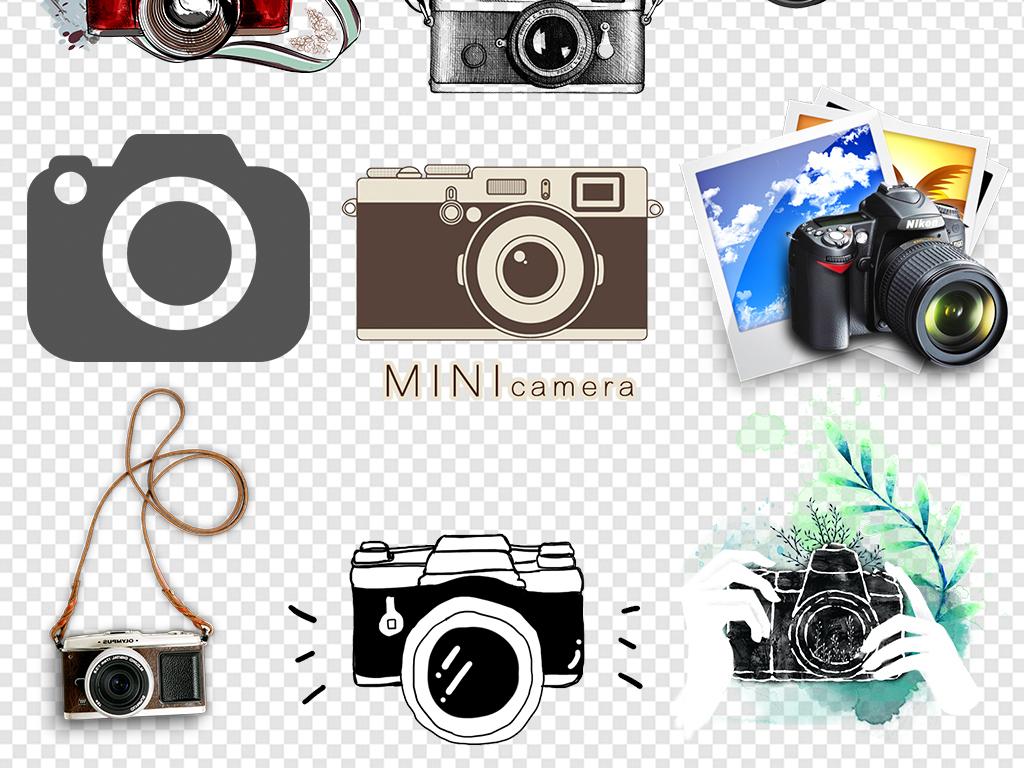 单反数码相机尼康复古照相机psd高清佳能相机相机简笔画