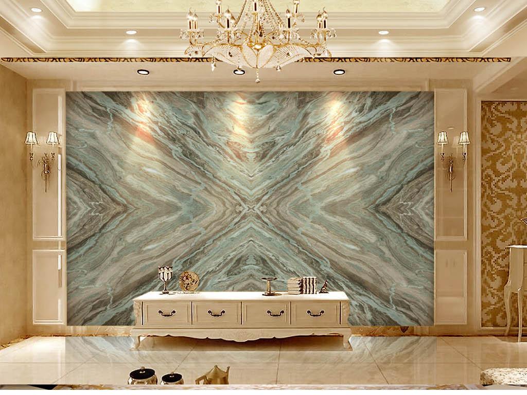 地中海风格大花绿石纹石材大理石拼花背景墙图片