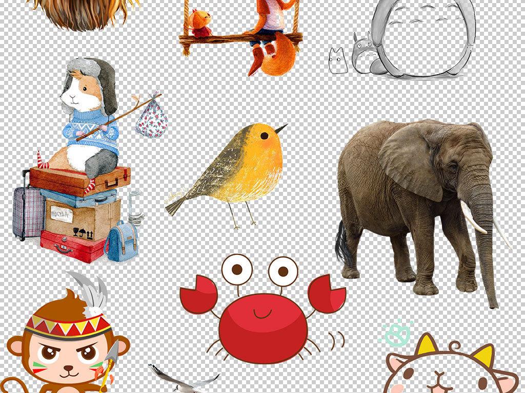 卡通小动物卡通小动物动物集合小鳄鱼