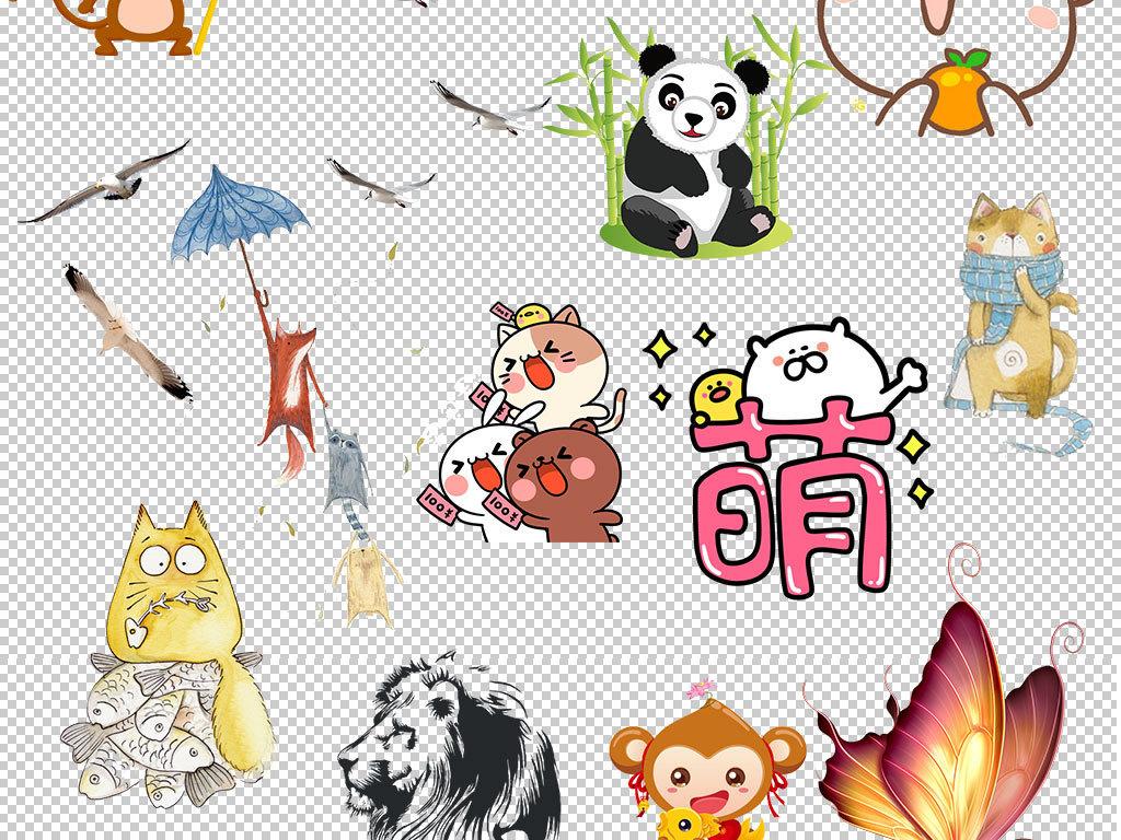 卡通可爱小动物图片png素材