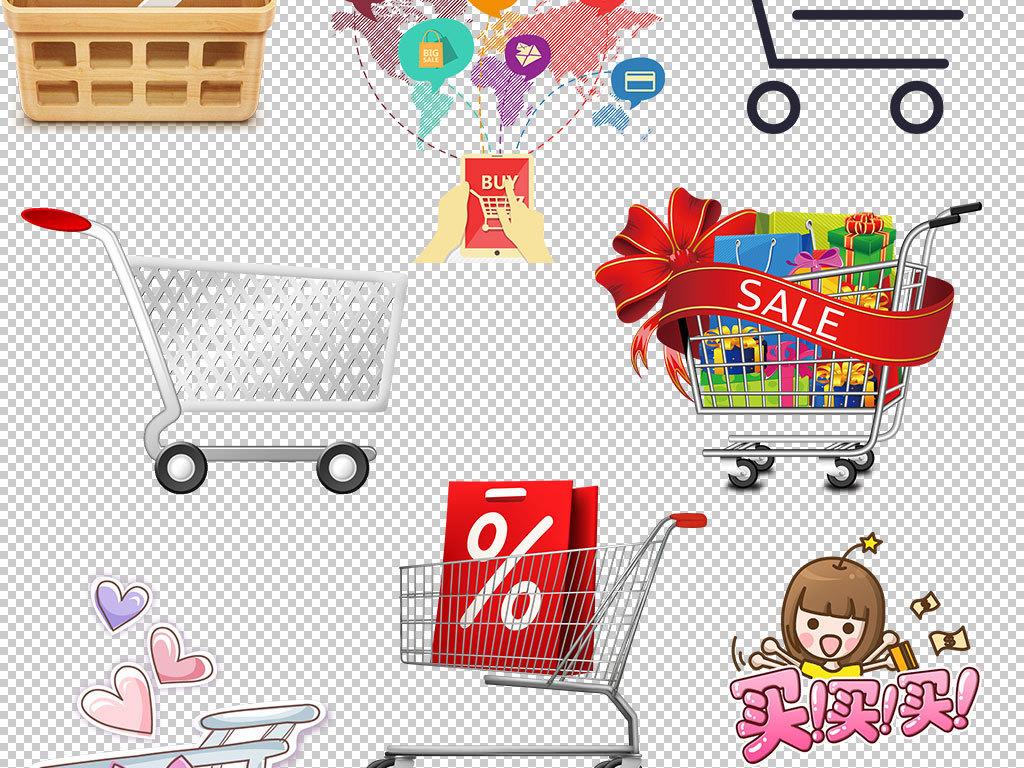 超市                                  市场手绘人物手绘背景