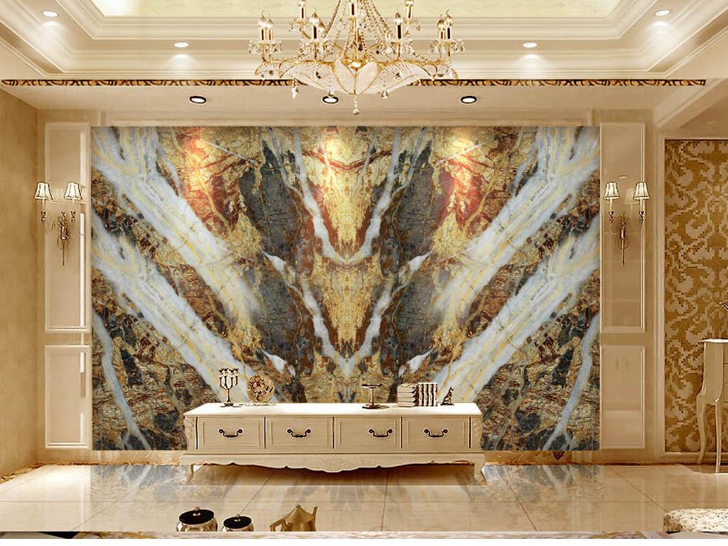 欧式皇家风格天然石纹石材大理石瓷砖背景墙图片