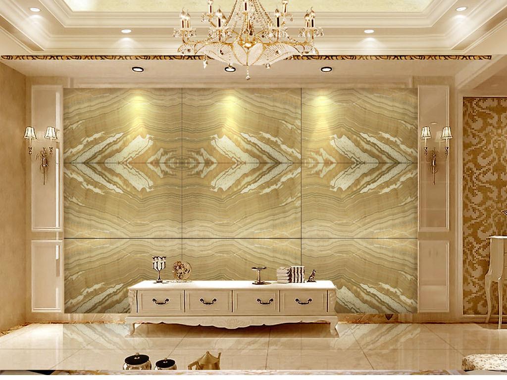 欧式皇式风格土豪金石纹石材大理石背景墙图片